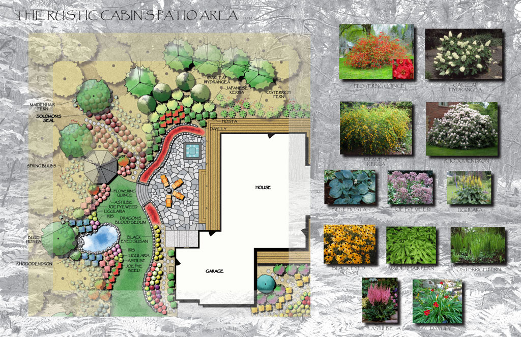 Garden Plans For Cottage Style Traditional Garden Design